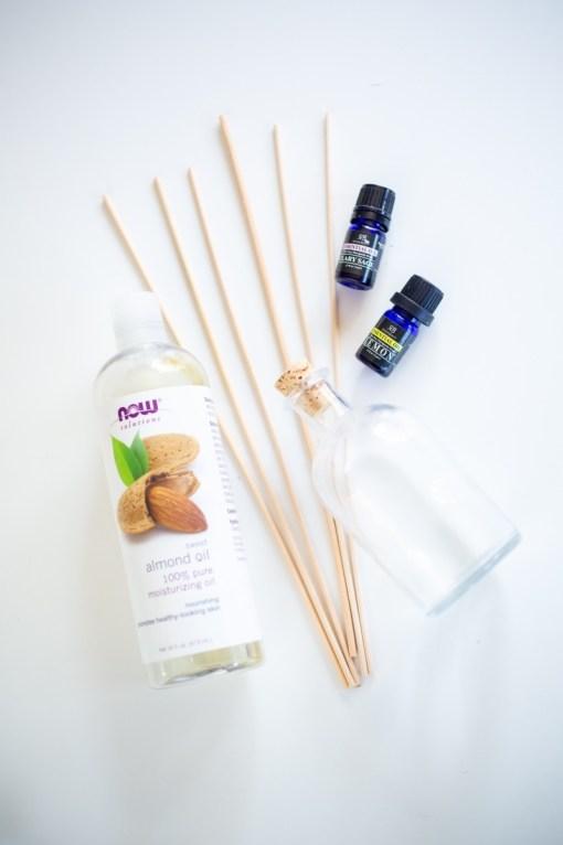 supplies to make a diy reed diffuser pop shop america