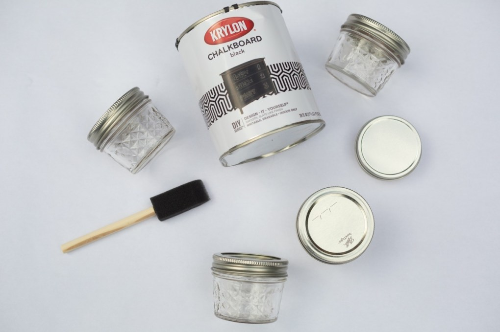 supplies to make chalkboard mason jars craft in style box