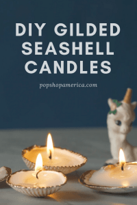 diy gilded seashell candles craft tutorial pop shop america