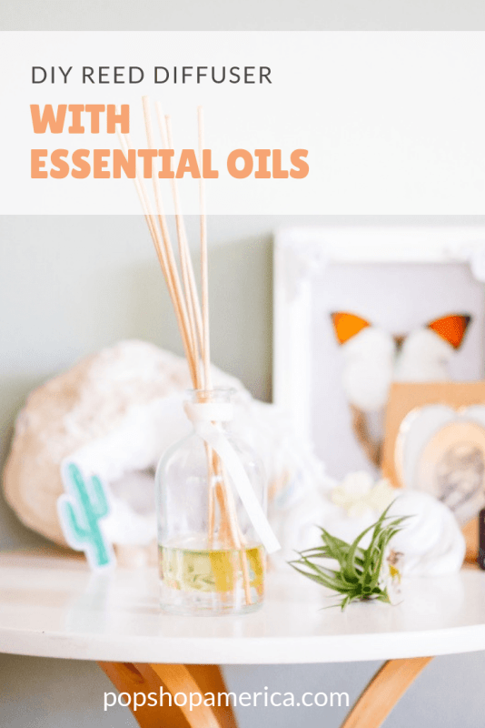 diy reed diffuser with essential oils craft tutorial pop shop america