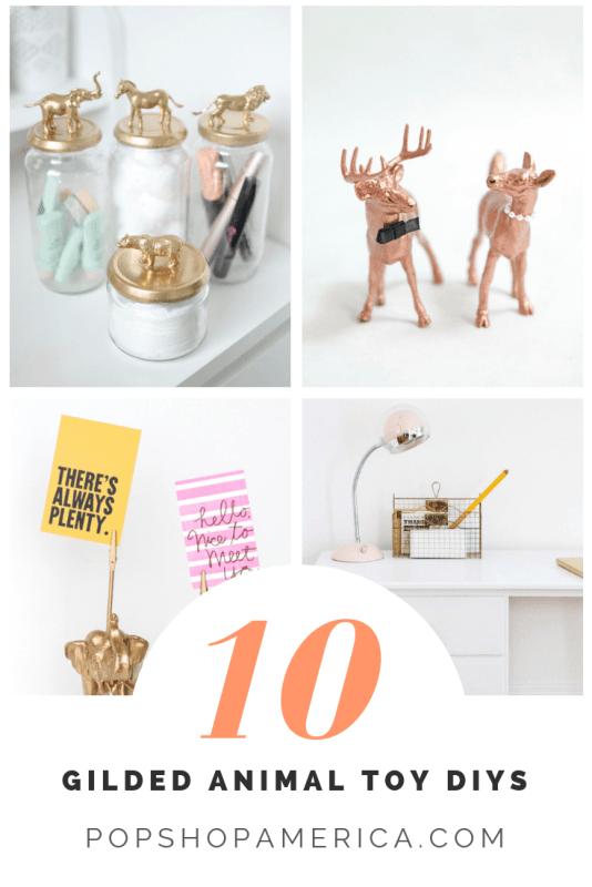 10 gilded animal toy diys pop shop america