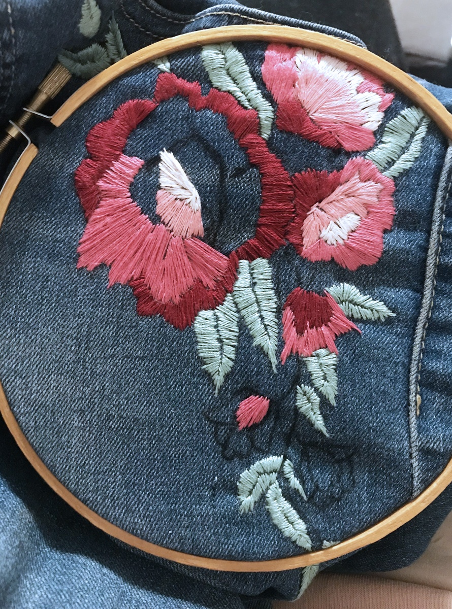 DIY Embroidered Denim
