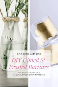 diy gilded and frosted barware class by pop shop america