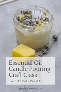 essential oil candle pouring class diy downtown pop shop america