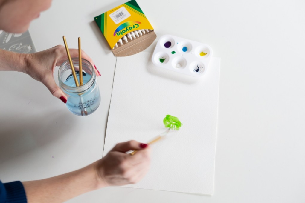 how to make a watercolor wax resist adding the paint