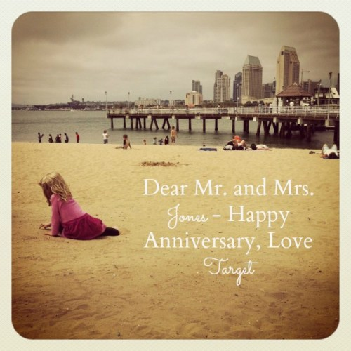 Dear Mr. and Mrs. Jones Happy Anniversary