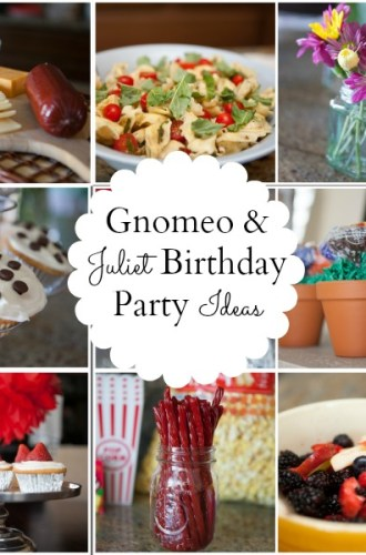 "A ""Gnomeo and Juliet"" Themed Birthday Party"