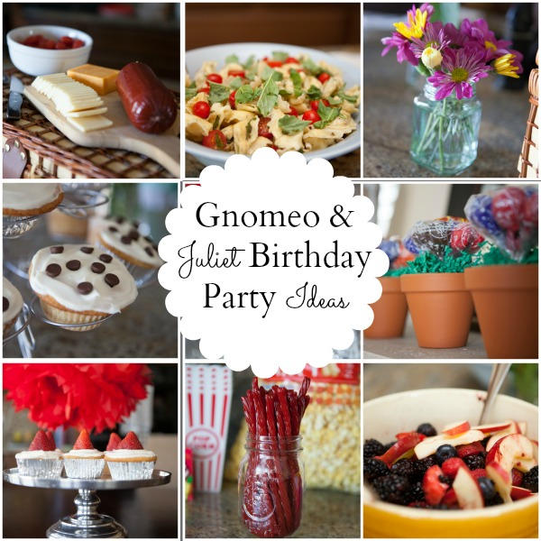 A Gnomeo and Juliet Birthday Party