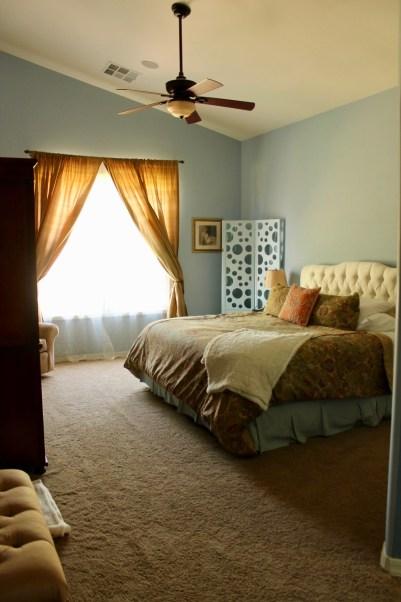Arizona Spanish Turret Master Bedroom