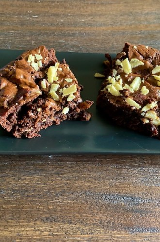 Bacon Potato Chip Brownies