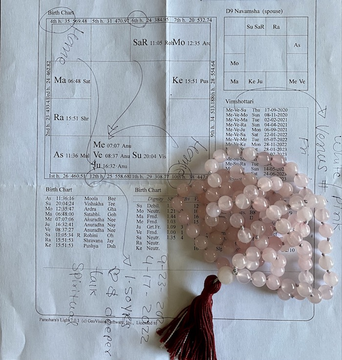 I'm you Venus or Written in the Stars Part Two Mala Beads