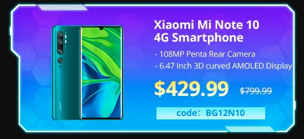 Banggood Xiaomi Mi Note 10 Coupon Code 2020