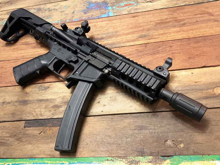 PDW 9mm SBR Shorty AEG By King Arms   Popular Airsoft: Welcome To The Airsoft World