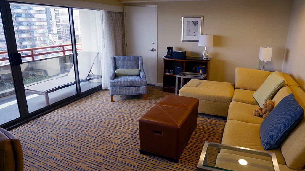 sofa bed reviews comfortable brown living room design ideas hotel review: marriott marquis & marina, san diego 2013 ...