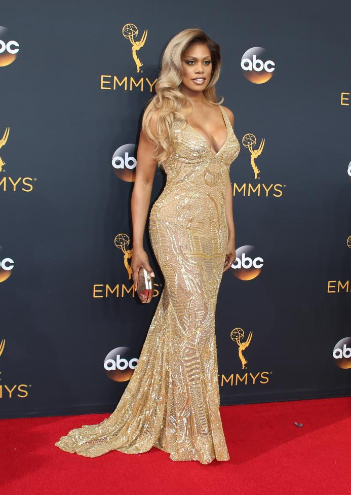 "Actress Laverne Cox from the Netflix series ""Orange is the New Black"". REUTERS/Lucy Nicholson"