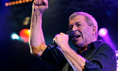 Ian Gillan, singer of British Rockband Deep Purple, performs on the main stage during the Caribana Openair Festival, in Crans-sur-Nyon, Western Switzerland, Wednesday, June 9, 2010. (AP Photo/Keystone/Martial Trezzini)