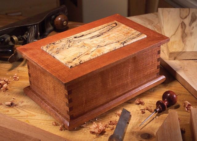... wood jewelry box make a big splash with a small piece of rare wood
