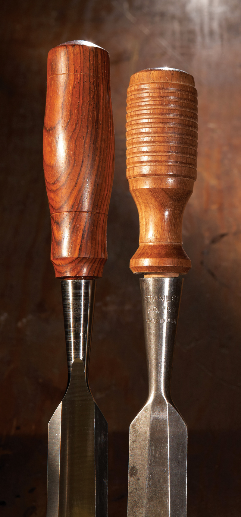 turned wood handles