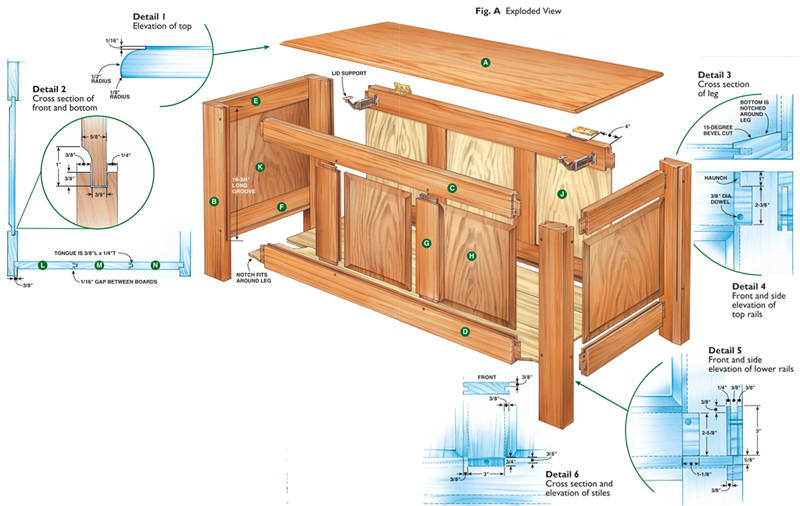 Pdf plans to build a blanket chest diy free plans download for Hope chest plans pdf