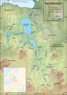 Estonie-russie - Fleuve Narva Carte