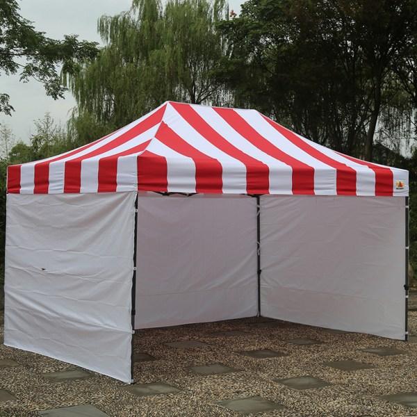 10x15 Carnival Canopy Stripe Ez Part Tent Vender Instant Bouns 6 Walls Abccanopy