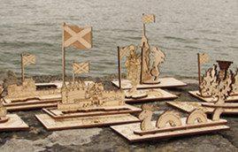 scottishheritage - Pop Up 3D Wood Gift Cards - Designed & Made in Scotland