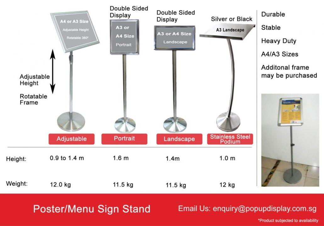 Menu Sign Stand