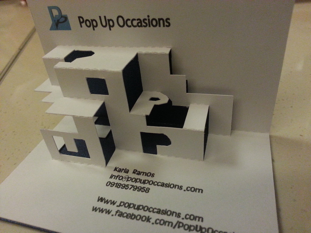 How cool is Pop Up Occasions Pop Up Business Card  Pop Up Occasions