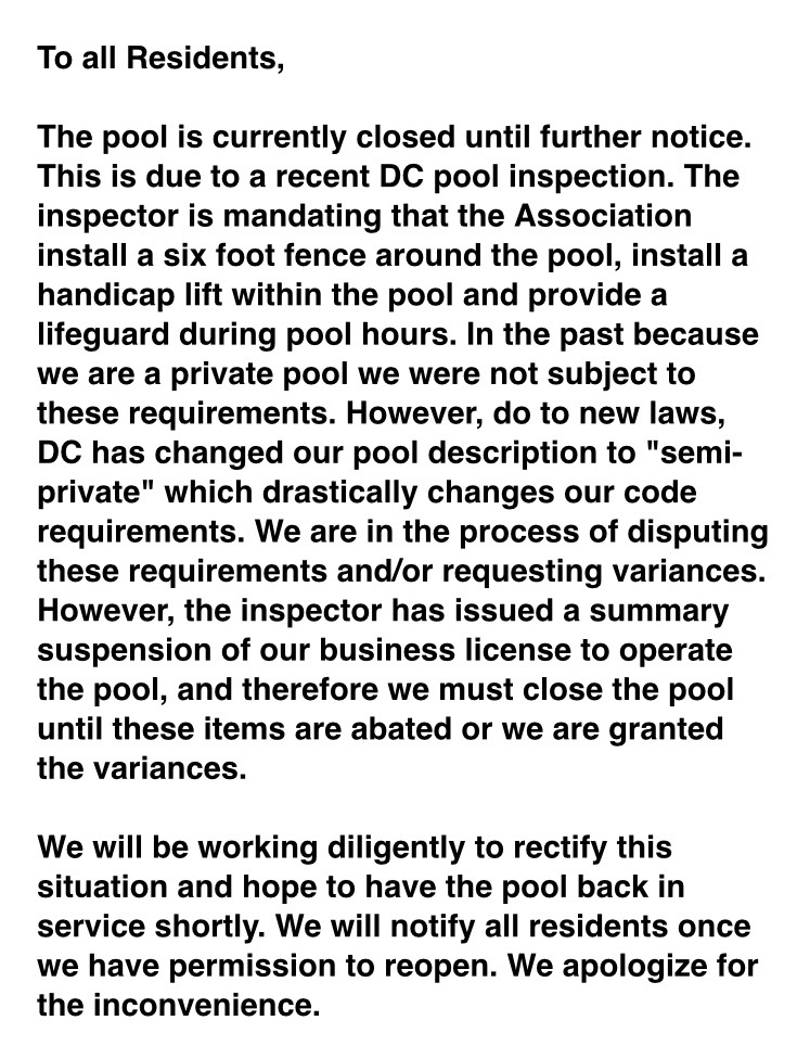 """PoPville » """"It's Ridiculous That Our Pool Which Is Tiny"""