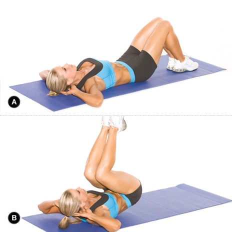 Image result for  Reverse Crunch workout