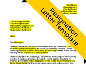 Free Resignation Letter Template - How to write a resignation letter