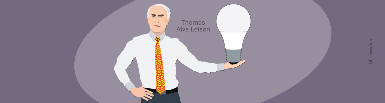 Grla za žarnice in sijalke / Edison / Porabimanj INFO / Ilustracija: Branko Baćović