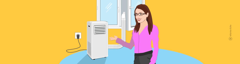 Kako delujejo prenosne klimatske naprave / PorabimanjINFO / Ilustracija: Branko Baćović