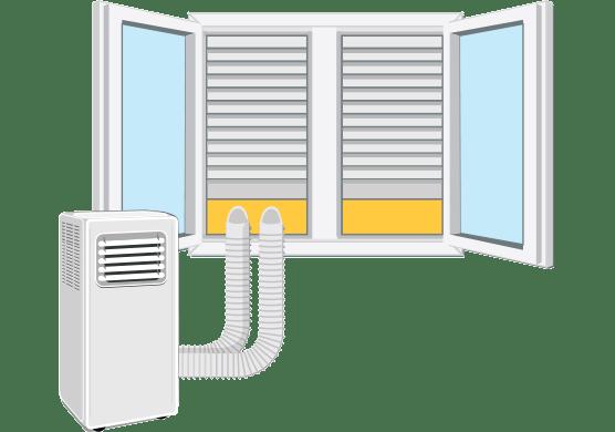 Prenosne klimatske naprave z dvemi cevmi / Porabimanj INFO / Ilustracija: Branko Baćović