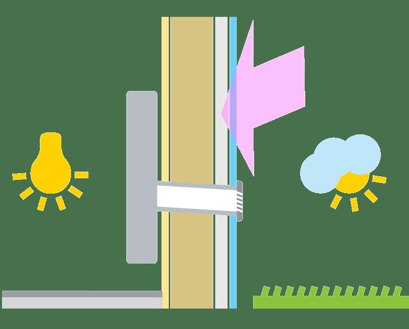 Montaža klimatske naprave brez zunanje enote / PorabimanjINFO / Ilustracija: Branko Baćović