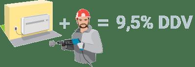 Montaža klime z montažo - 9,5% DDV / PorabimanjINFO