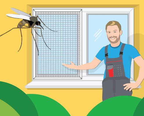 Naredi sam: Mreža proti komarjem / PorabimanjINFO / Ilustracija: Branko Baćović