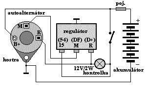 auto alternator wiring diagram speakers in series schéma zapojení alternátoru
