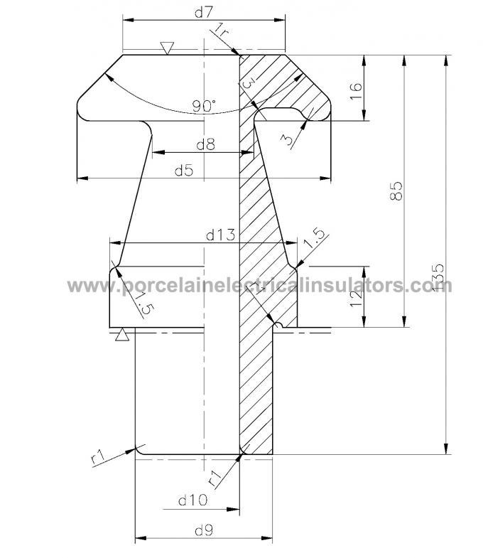 ANSI standard LV bushing insulator color grey or white