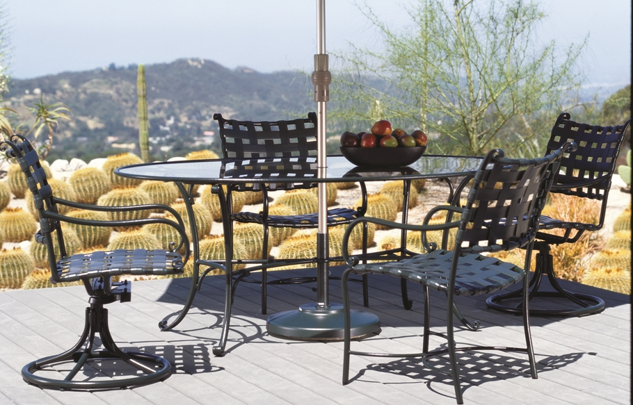 Brown Jordan Roma Strap Dining Collection  Porch and Patio
