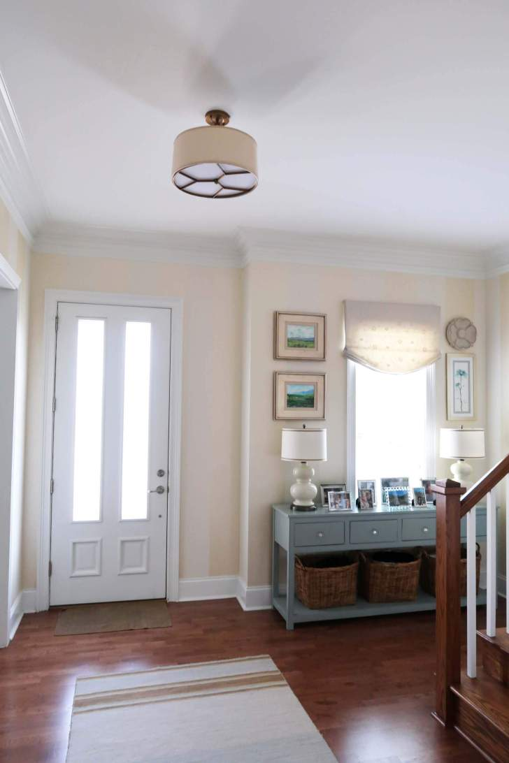 Close To Ceiling Foyer Lights : What height to hang those lights porch daydreamer a