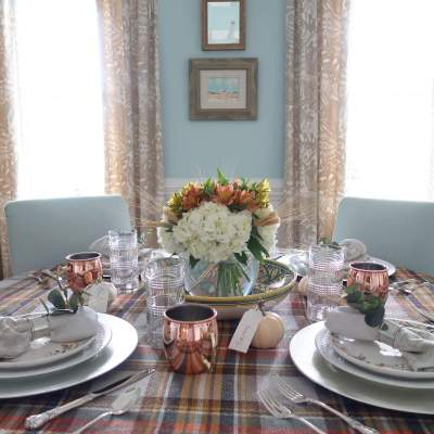 Last Minute Thanksgiving Table Courtesy of Your Closet