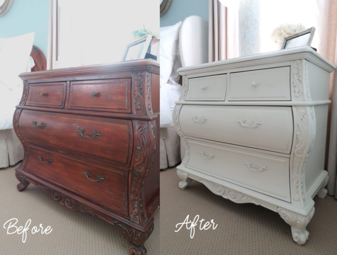 Nightstands Painted Before and After_Porch Daydreamer