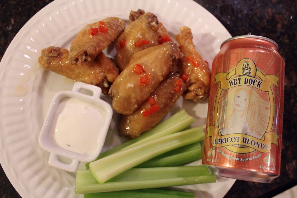 Cooking with Beer Apricot Sweet Chili Wings