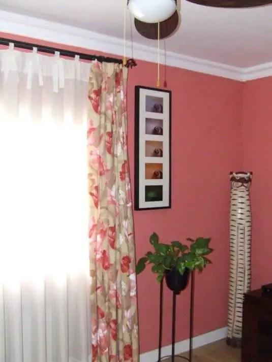 Diferentes maneras de colgar visillos y cortinas