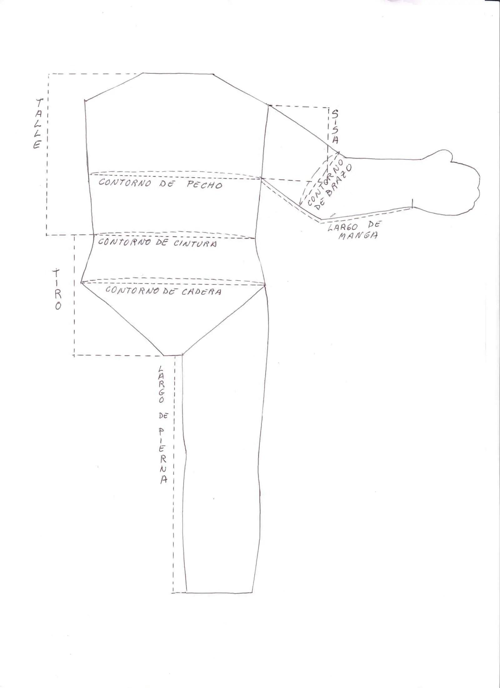 Dibujando patrones para ropa de muñecas