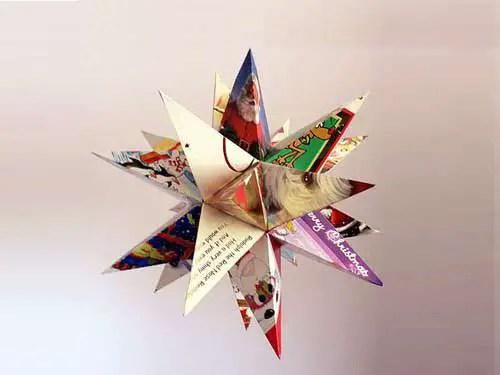 Adornos navide os hechos con papel for Adornos navidenos origami paso a paso