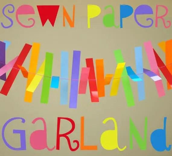 guirnalda con papel de colores