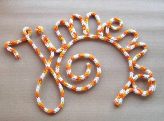 Cómo hacer letras con lana
