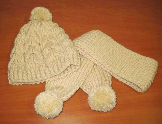 Cómo tejer un conjunto de gorro y bufanda infantil